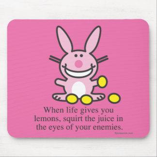 Cuando la vida le da los limones alfombrillas de ratón