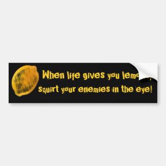 Cuando la vida le da los limones, etiqueta de parachoque