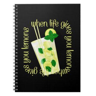 Cuando la vida le da los limones spiral notebooks