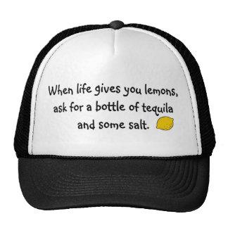 Cuando la vida le da los limones gorras