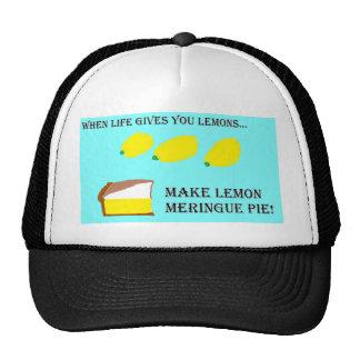 Cuando la vida le da los limones… gorras