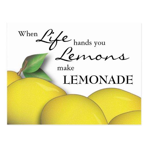 Cuando la vida le da los limones hacen la postal d