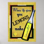 Cuando la vida le da los limones hacen Limoncello Poster