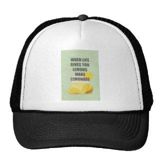 Cuando la vida le da los limones, haga las citas d gorros