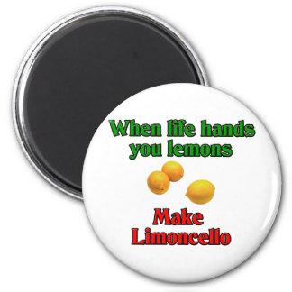Cuando la vida le da los limones imán redondo 5 cm