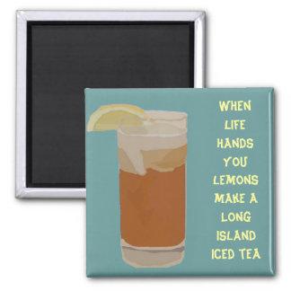 Cuando la vida le da los limones…. imán cuadrado