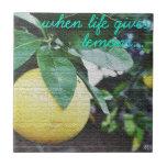 Cuando la vida le da los limones teja