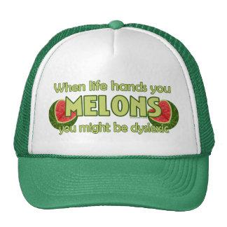 Cuando la vida le da los melones gorras