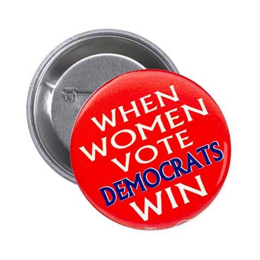 Cuando las mujeres votan - botón