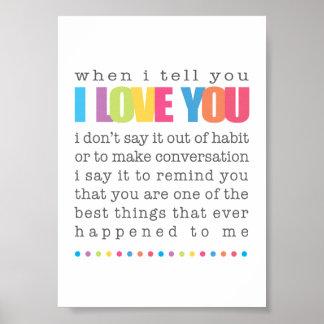 Cuando le digo te amo el poster