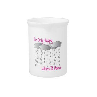 Cuando llueve jarra de beber