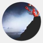 Cuando los cangrejos silban en la montaña pegatina redonda