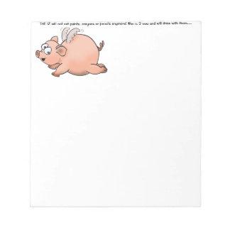 Cuando los cerdos vuelan bloc de notas