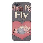 Cuando los cerdos vuelan el iPhone 4 de la caja de iPhone 5 Protectores