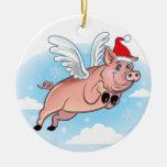 Cuando los cerdos vuelan el ornamento ornamento para reyes magos