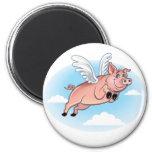 Cuando los cerdos vuelan, la diversión sucede imanes