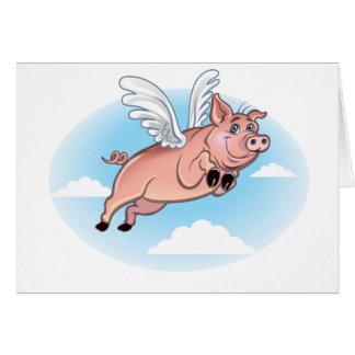 Cuando los cerdos vuelan, la diversión sucede tarjetas