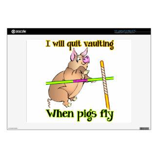 Cuando los cerdos vuelan - la ventana de la bóveda 35,6cm portátil calcomanías