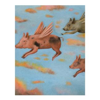Cuando los cerdos vuelan membrete personalizado