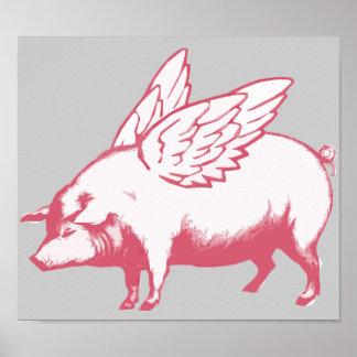 Cuando los cerdos vuelan posters