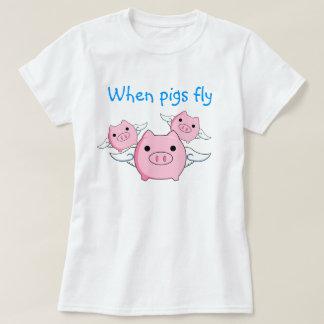 Cuando los cerdos vuelan playeras