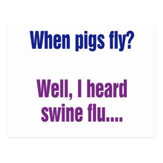 ¿Cuándo los cerdos vuelan? Postal