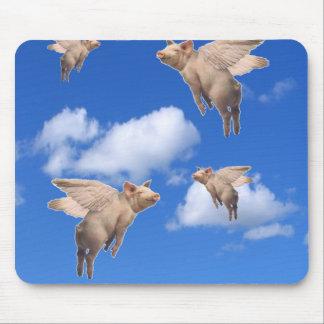 Cuando los cerdos vuelan mousepads