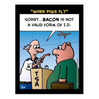 """""""Cuando los cerdos vuelan """" Tarjetas Postales"""