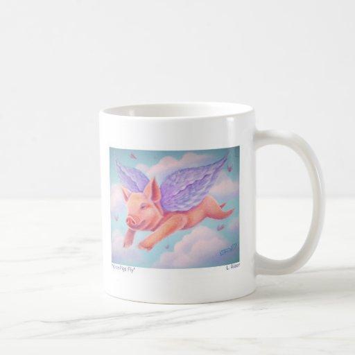 Cuando los cerdos vuelan taza de café