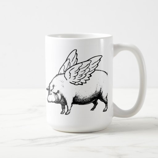 Cuando los cerdos vuelan tazas de café