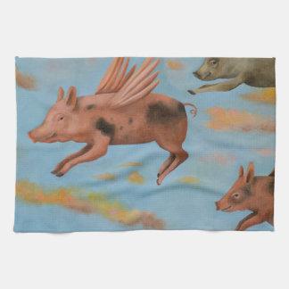 Cuando los cerdos vuelan toallas