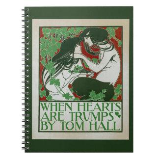 Cuando los corazones son triunfos libros de apuntes con espiral