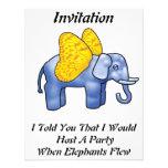 Cuando los elefantes vuelan la invitación