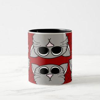 """""""Cuando los gatitos atacan"""" la taza"""