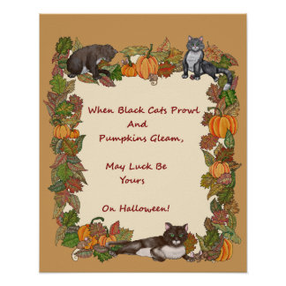 Cuando los gatos negros rondan póster