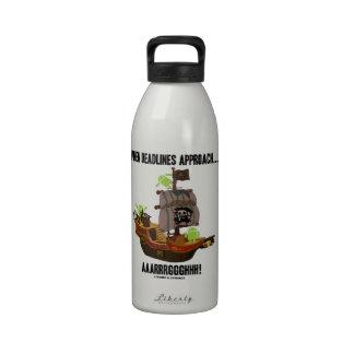 Cuando los plazos se acercan… Aaarrrggghhh Bugdroi Botellas De Agua Reutilizables