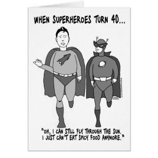 Cuando los super héroes dan vuelta a la tarjeta de