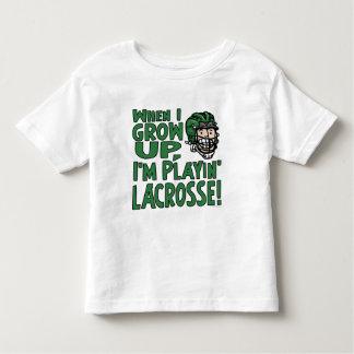 Cuando me crezco están jugando el casco verde de playera de bebé