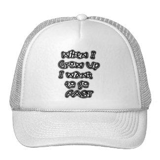 Cuando me crezco quiera ir gorra rápido