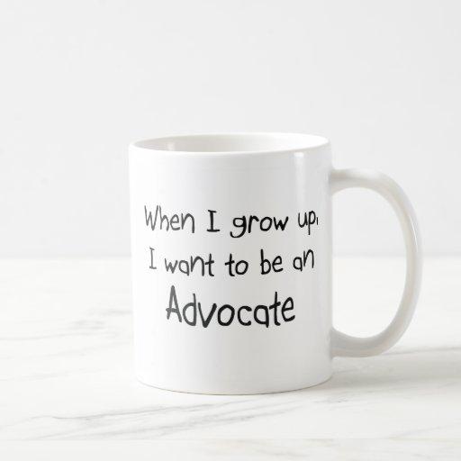 Cuando me crezco quiera ser un abogado tazas de café