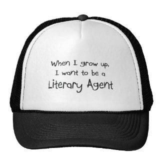Cuando me crezco quiera ser un agente literario gorras