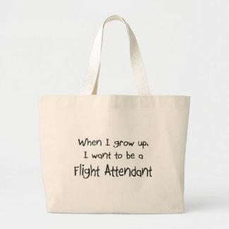 Cuando me crezco quiera ser un asistente de vuelo bolsas lienzo