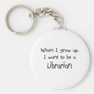 Cuando me crezco quiera ser un bibliotecario llavero redondo tipo pin