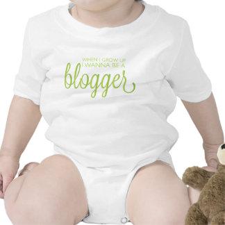 Cuando me crezco quiera ser un blogger trajes de bebé