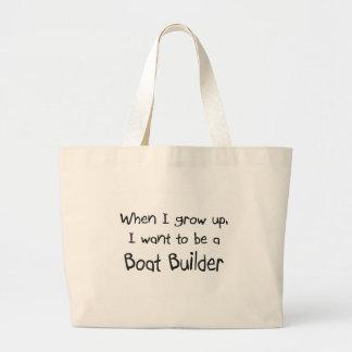 Cuando me crezco quiera ser un constructor del bar bolsa tela grande