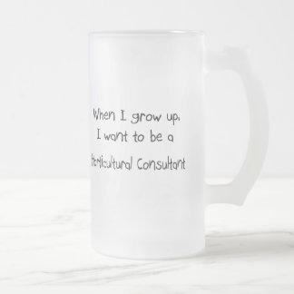 Cuando me crezco quiera ser un cónsul hortícola tazas de café