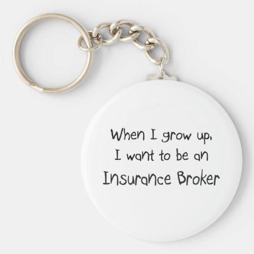 Cuando me crezco quiera ser un corredor de seguros llavero redondo tipo pin