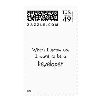 Cuando me crezco quiera ser un desarrollador sellos