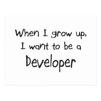 Cuando me crezco quiera ser un desarrollador postales
