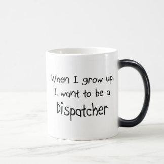 Cuando me crezco quiera ser un despachador tazas de café